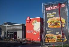 Restaurante rápido do hamburguer da qualidade Foto de Stock