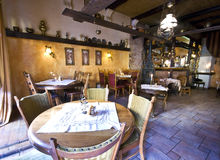 Restaurante rústico Fotos de Stock