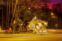 Restaurante regional Kolibecka en Zakopane Foto de archivo