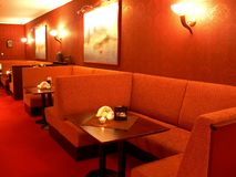 Restaurante rojo Fotos de archivo libres de regalías