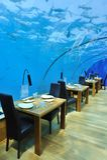 Restaurante romántico Foto de archivo libre de regalías
