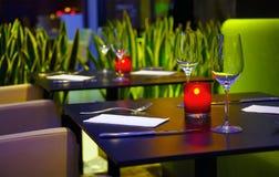Restaurante romántico Imagen de archivo libre de regalías