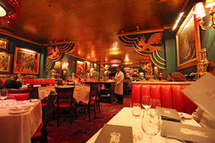 Restaurante ruso en Nueva York, los E.E.U.U. Fotografía de archivo