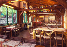 Restaurante servio Imagen de archivo