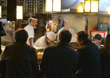 Restaurante Tokio Japón Foto de archivo libre de regalías