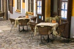 Restaurante tradicional húngaro imagens de stock
