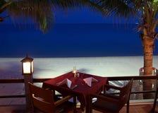 Restaurante tropical imagens de stock