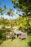 Restaurante tropical do jardim Imagens de Stock Royalty Free