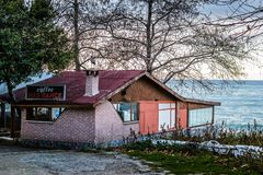 Restaurante turco do beira-mar Imagem de Stock