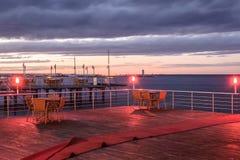 Restaurante turco do beira-mar Fotografia de Stock Royalty Free