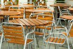 Restaurante vacío de la calle Fotografía de archivo