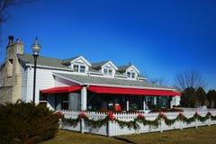 Restaurante vermelho do gerânio imagens de stock royalty free