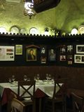 Restaurante viejo en el cuarto griego en Viena imagen de archivo libre de regalías