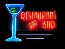 Restaurante y barra Imágenes de archivo libres de regalías