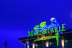 Restaurante y barra de Margaritaville de Jimmy Buffet en Citiwalk Universal Studios foto de archivo