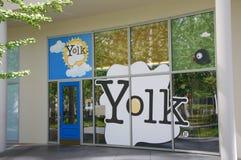 Restaurante y café, Dallas, Tejas de la yema de huevo fotografía de archivo libre de regalías