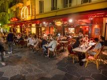 Restaurante y café al aire libre Imágenes de archivo libres de regalías