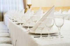 Restaurantereignis Bankett, Hochzeit, Feier Stockfotografie