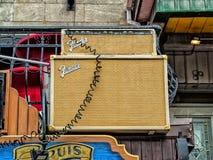 Restaurantes àJojo, a instituição dos azuis de Montreal's Imagens de Stock Royalty Free