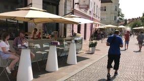 Restaurantes da rua em Ljubljana filme