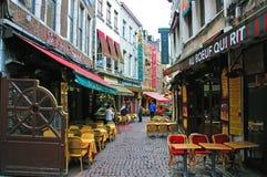 Restaurantes de Bruselas Imagenes de archivo