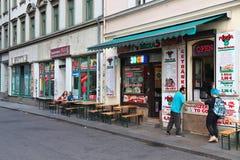 Restaurantes de Dresden Neustadt imagem de stock royalty free