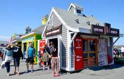 Restaurantes de la cabina de la costa imagen de archivo