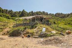 Restaurantes de la playa Imágenes de archivo libres de regalías