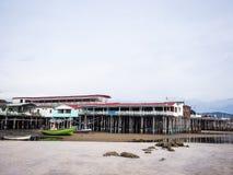 Restaurantes de la playa Imagenes de archivo
