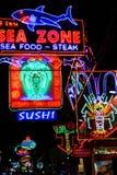 Restaurantes de la vida nocturna, Pattaya, Tailandia. Imagenes de archivo