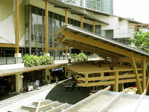 Restaurantes del café, zona verde 3, Makati, Filipinas Imagen de archivo libre de regalías