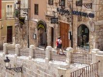 Restaurantes en St Mary Square - Burgos Fotografía de archivo libre de regalías