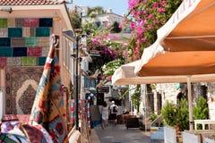 Restaurantes na área Marmaris Turquia do porto fotos de stock royalty free