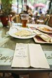 Restaurantes no parque do Europa na oxidação, Alemanha Imagem de Stock