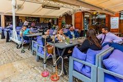 Restaurantes Souk viejo Byblos Jbeil Líbano Fotografía de archivo libre de regalías