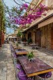 Restaurantes Souk viejo Byblos Jbeil Líbano fotos de archivo libres de regalías