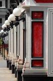 Restaurantes vermelhos Fotografia de Stock