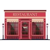 Restaurantfassade Auch im corel abgehobenen Betrag Lizenzfreie Stockfotografie