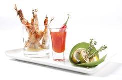 Restaurantgarnalen (garnalen) stock afbeelding