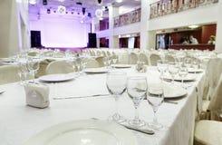 Restaurantgebeurtenis Banket, huwelijk, viering Stock Afbeelding