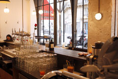 Restaurantgegenansicht Lizenzfreie Stockbilder
