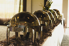 Restaurantglazen kap Royalty-vrije Stock Foto
