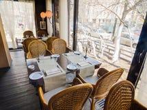 Restaurantinnenaufnahme Stockfoto