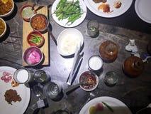Restaurantlebensmittelumhüllung Lizenzfreie Stockbilder