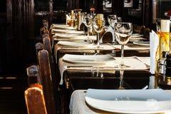 Restaurantlijst Stock Foto