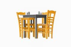 Restaurantlijst met stoelen Royalty-vrije Stock Afbeeldingen