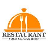 Restaurantlogo-Schablonendesign Lizenzfreie Stockfotografie