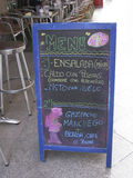 Restaurantmenü in Murcia, Spanien Stockbilder