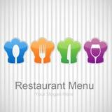 Restaurantmenühintergrund Stockbild