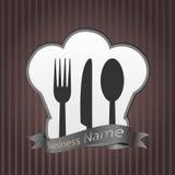 Restaurantmenühintergrund Stockfoto
